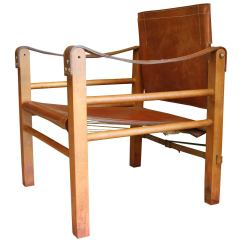 Safari High Chair Polka Dot Desk Cognac Leather At 1stdibs