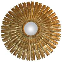 Exceptionally Large Giltwood Starburst Mirror at 1stdibs