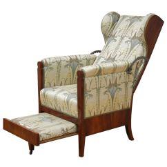 Unusual Armchair Ergonomic Chair Staples 19th Century Austrian Biedermeier Metamorphic