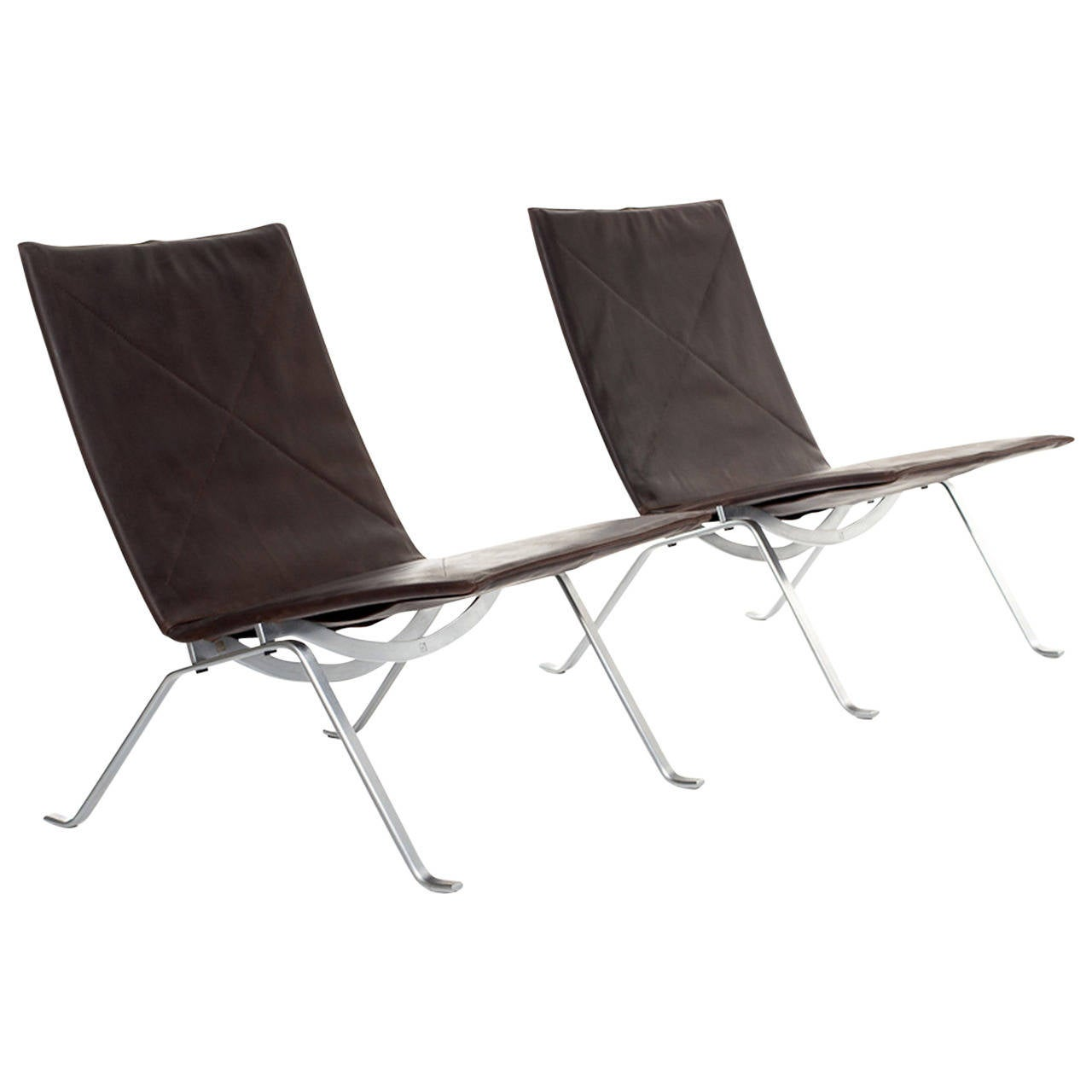 Pk22 Chair Poul Kjaerholm Pk22 Chairs For E Kold Christenesen At 1stdibs