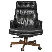 barrel back desk chair by Edward Wormley for Dunbar at 1stdibs
