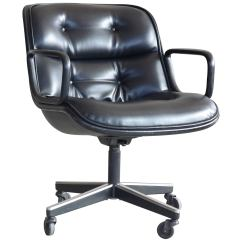 Pollock Executive Chair Replica Lay Z Boy Office Charles For Knoll International In Black Leather Sale