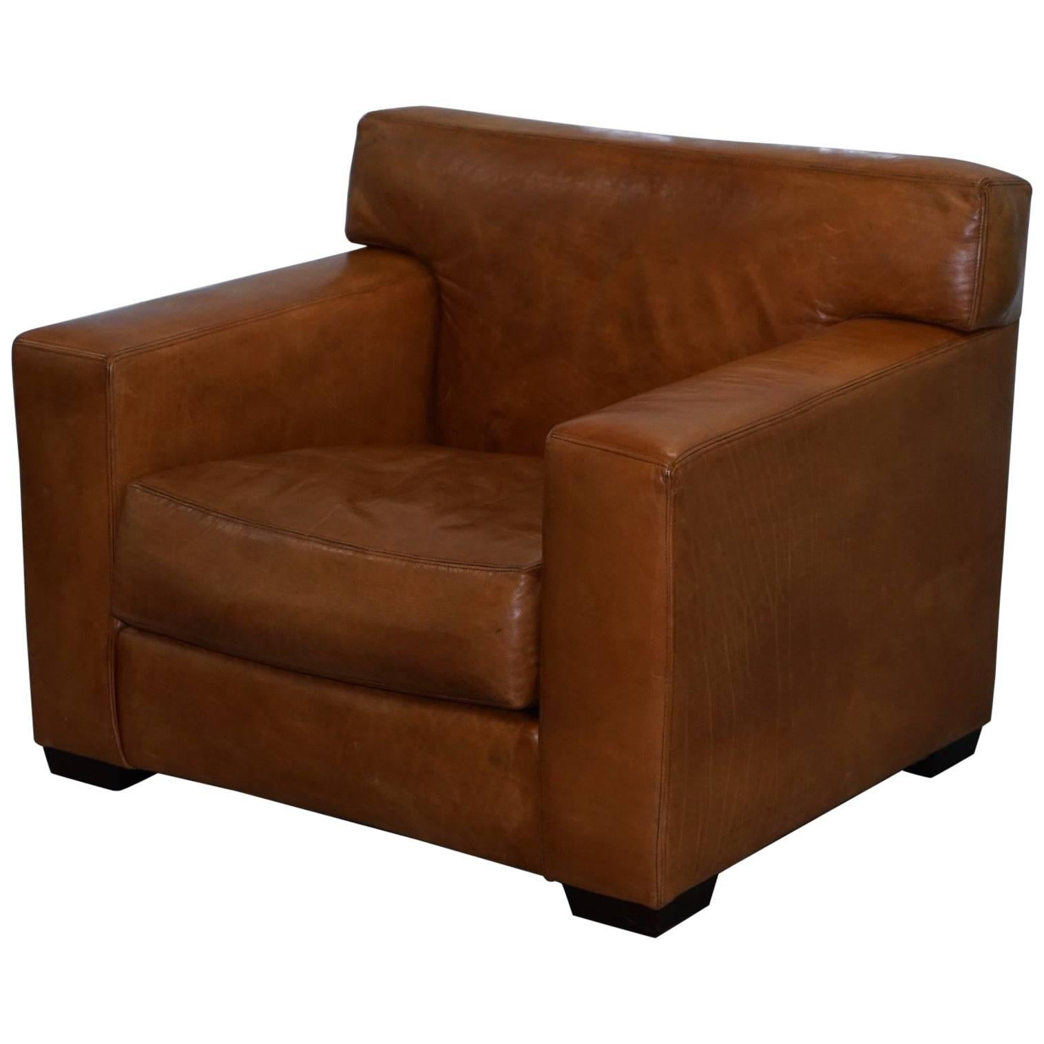 tan leather chair sale wedding covers shropshire ralph lauren graham club armchair brown custom buffalo for