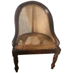 British Colonial Chair Harley Davidson Rocking Ceylonese Nadoun Wood And Caned Nursery Circa 1900 For Sale