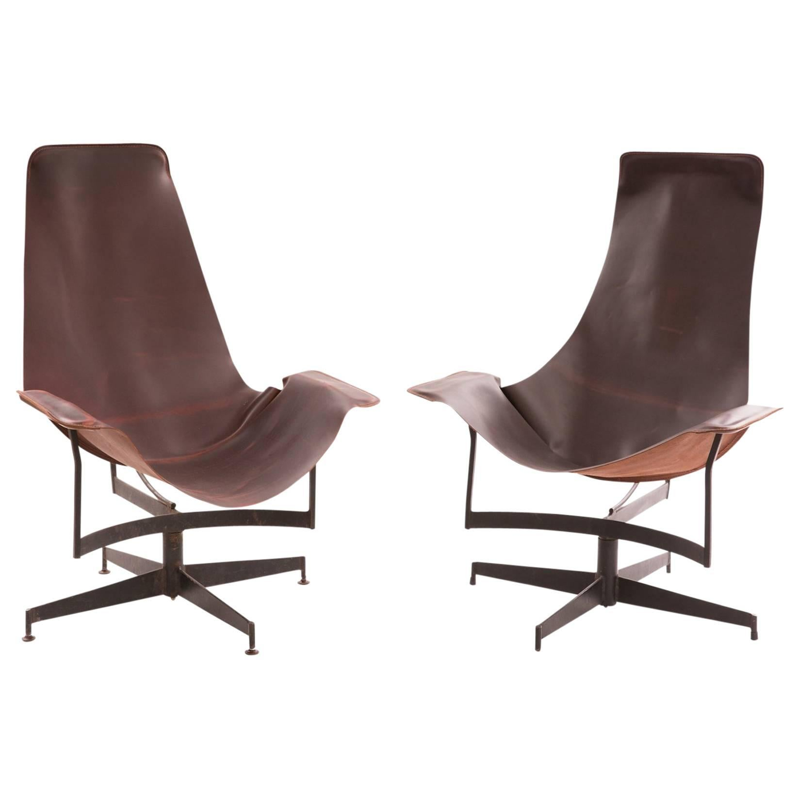 sling chairs for sale folding lounge chair outdoor william katavolos leathercrafter leather and iron
