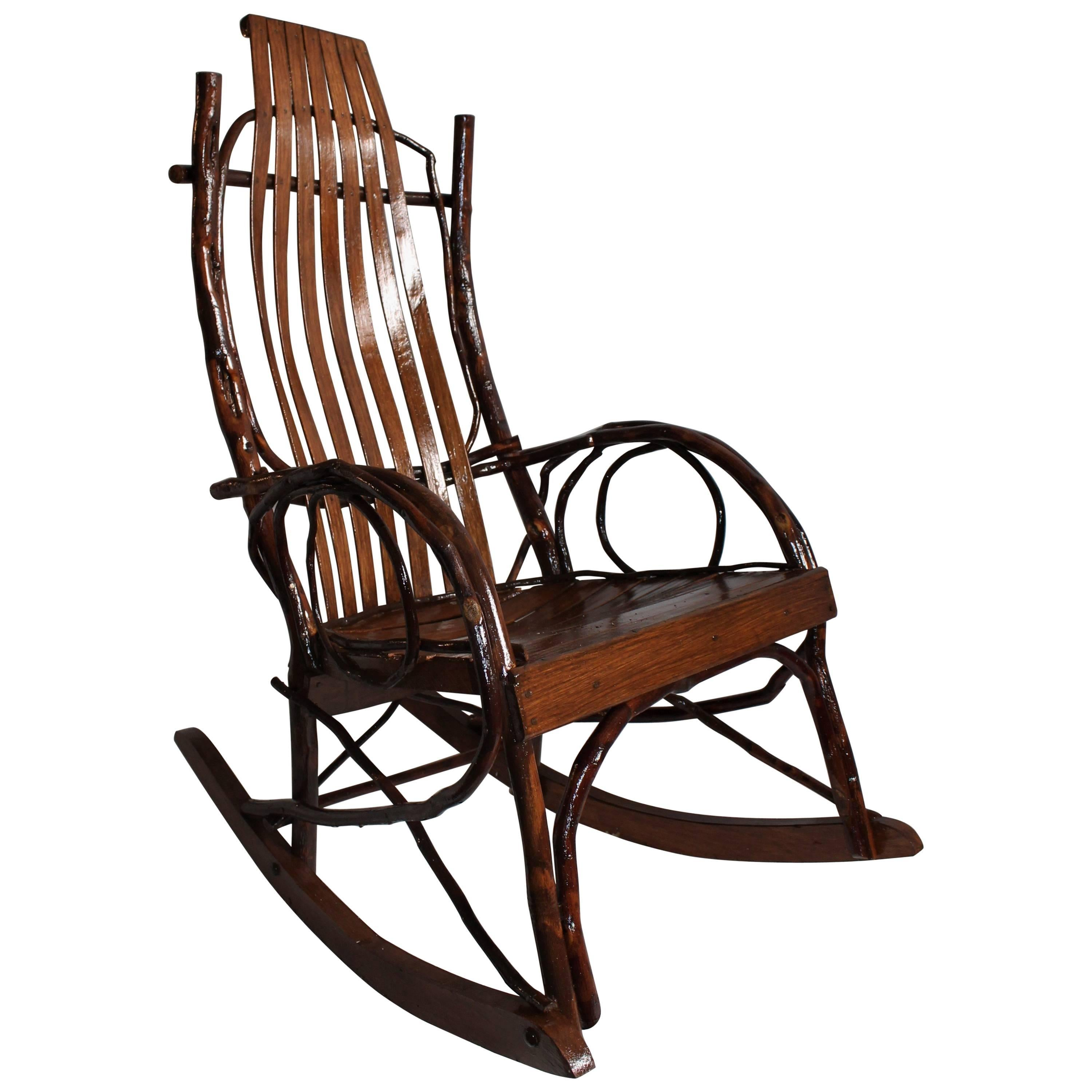 Amish Rocking Chair Bentwood Rocking Chair