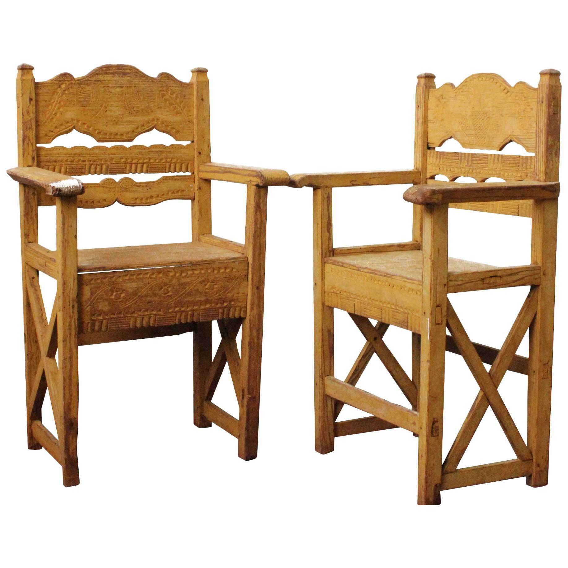 Western Chairs Late 19th Century Set Of Chairs Found In Western Mexico