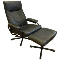 Danish Modern Teak and Tweed Reclining Lounge Chair and ...