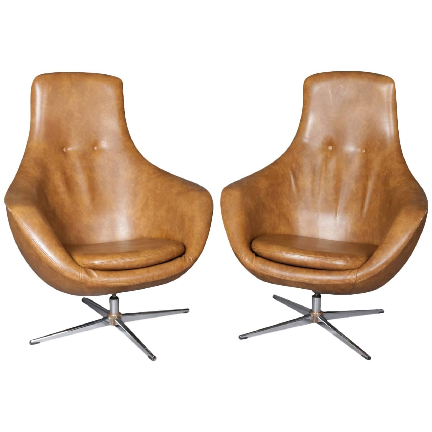 mid century egg chair cast aluminum lounge chairs pair of modern overman school womb or swivel club for sale