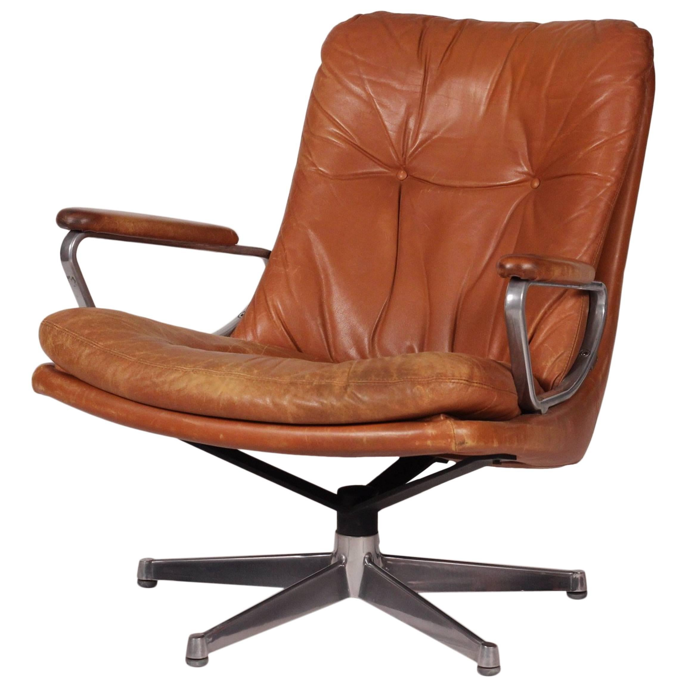 Modern Leather Chairs Mid Century Modern Leather Lounge Chair Designed By André Vandenbeuck