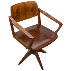 Desk Chair Made Best Company Swivel Rocker Mid Century Writing By Ton 1960s Czechoslovakia For Sale