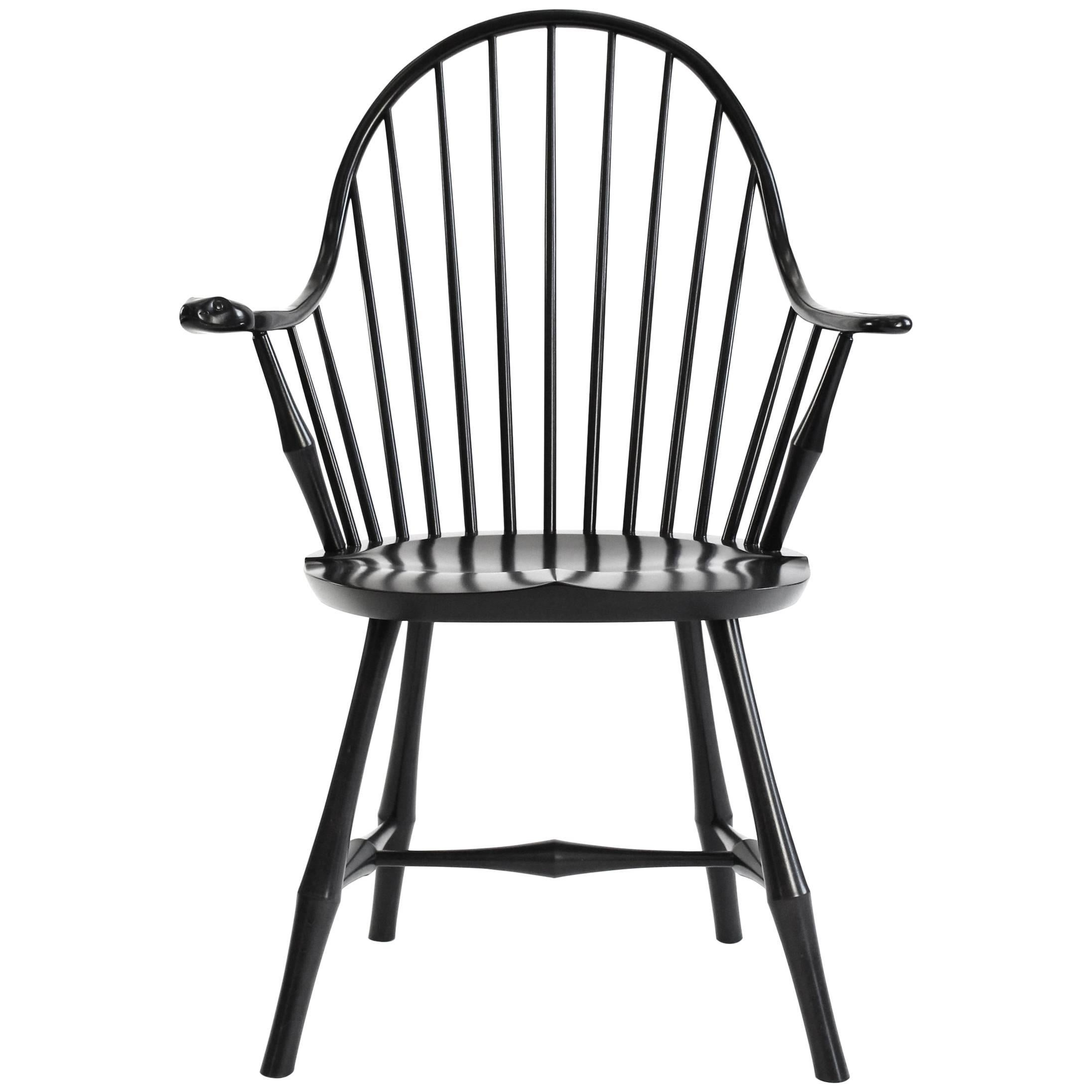 Windsor Chairs Black Nantucket Style Windsor Side Chair By Warren Chair Works