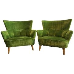 Lime Green Chairs For Sale Chair Leg Pads Home Depot Midcentury Covered In Original Fabric At