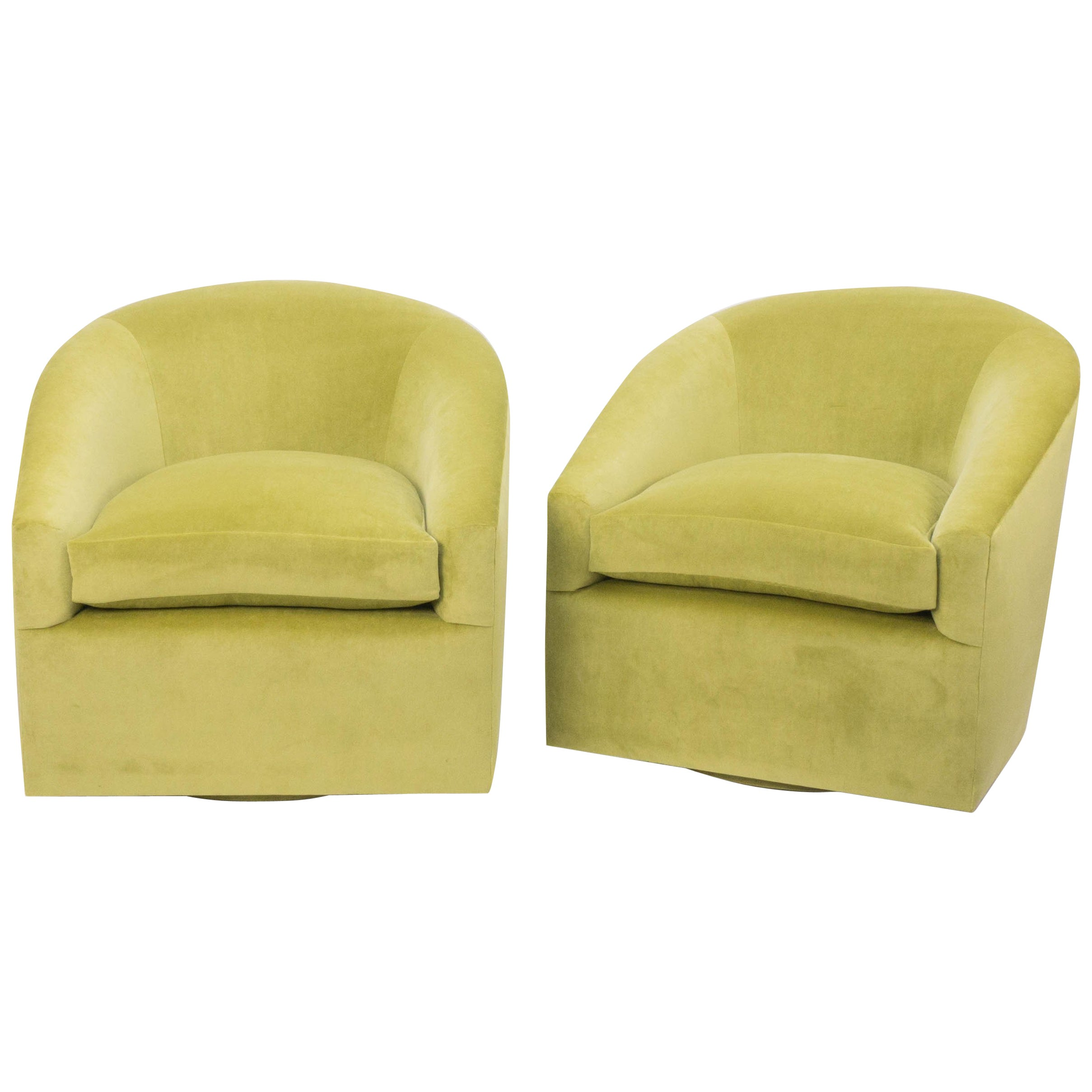 Lime Green Chairs Modern Swivel Chair In Lime Green Velvet