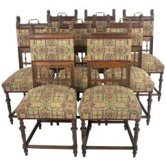 Vintage Wooden Dining Chairs First High Chair Invented Antique Oak S France 1890 B1121 At 1stdibs