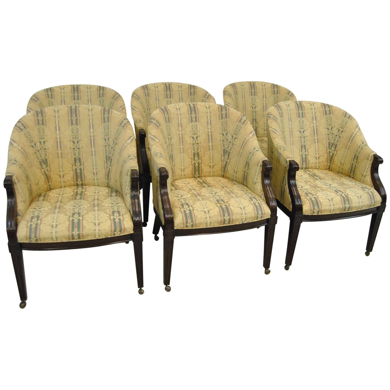 mid century modern cane barrel chairs ikea chair covers ebay vintage baker faux bamboo back in - 4 available at 1stdibs