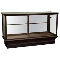 1910s Antique Oak Apothecary Standing Display Case with