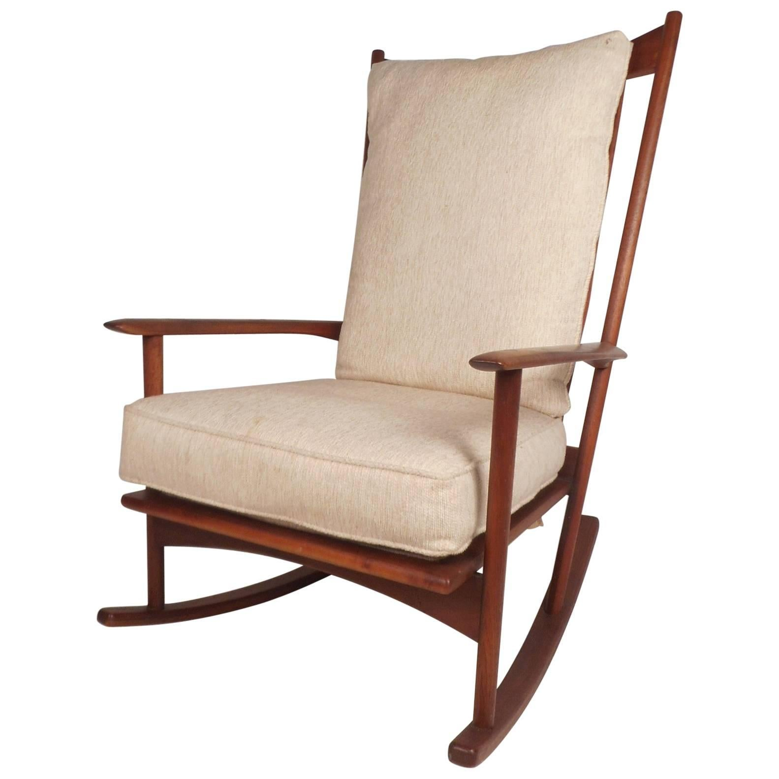 danish modern rocking chair kids camping walnut by selig for sale at 1stdibs