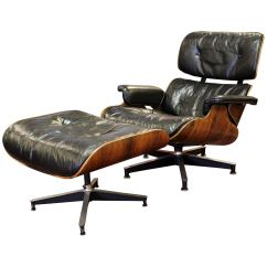 Office Chair Ottoman Outdoor Lounge Mid Century Modern Early Eames Herman Miller Rosewood 1950s For Sale