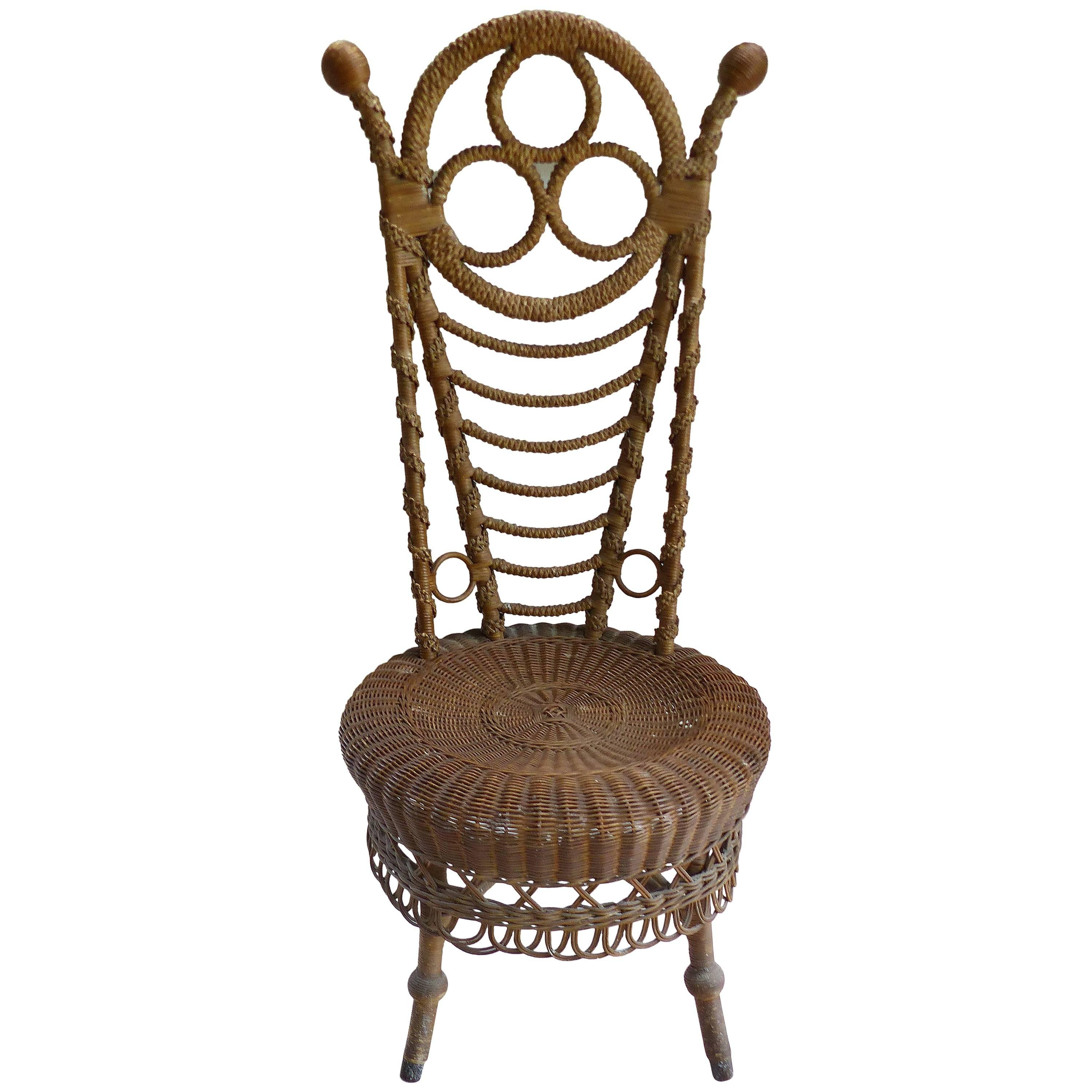 wicker chair for sale swivel no castors rare 19th century french victorian boudoir at