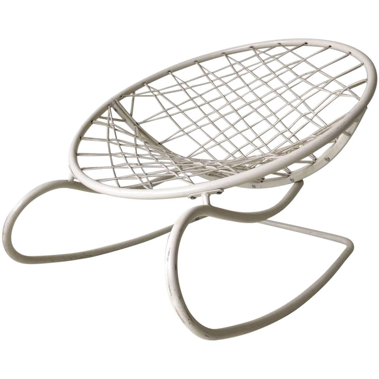 ikea metal chairs ebay chair covers white rocking lounge model axvall by niels gammelgaard 2002 for