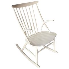 White Rocking Chairs For Sale Aluminum Pool Illum Wikkelso Chair Rocker At 1stdibs