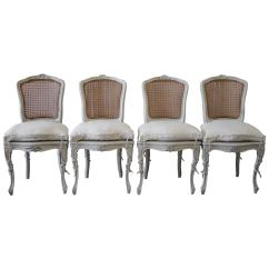 French Louis Chair Tall Fishing 19th Century Set Of Four Antique Xv Style Cane Back Dining Chairs For Sale