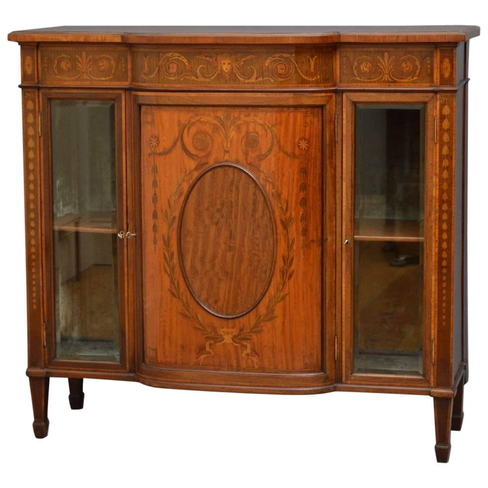 Horner Brothers Victorian Curved Glass China Cabinet at