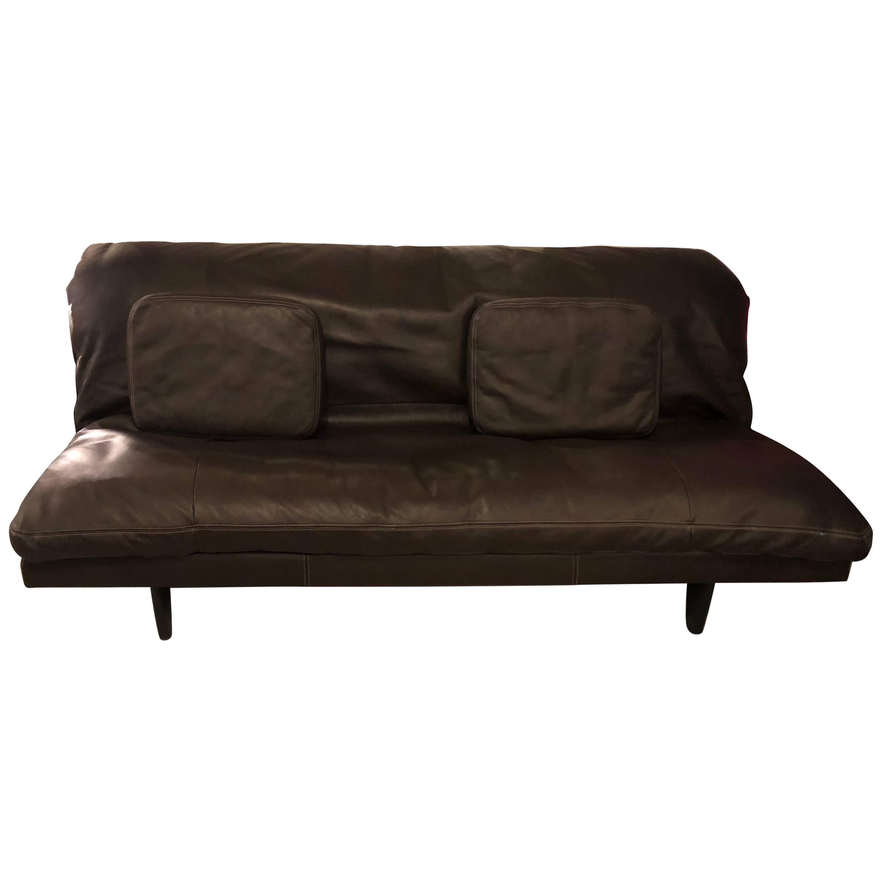de sede sleeper sofa loveseat full brown leather or daybed for sale at 1stdibs