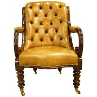 Early Victorian Library Chair For Sale at 1stdibs