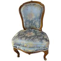 Two French Chairs Armchair and Boudoir Louis XV revival ...