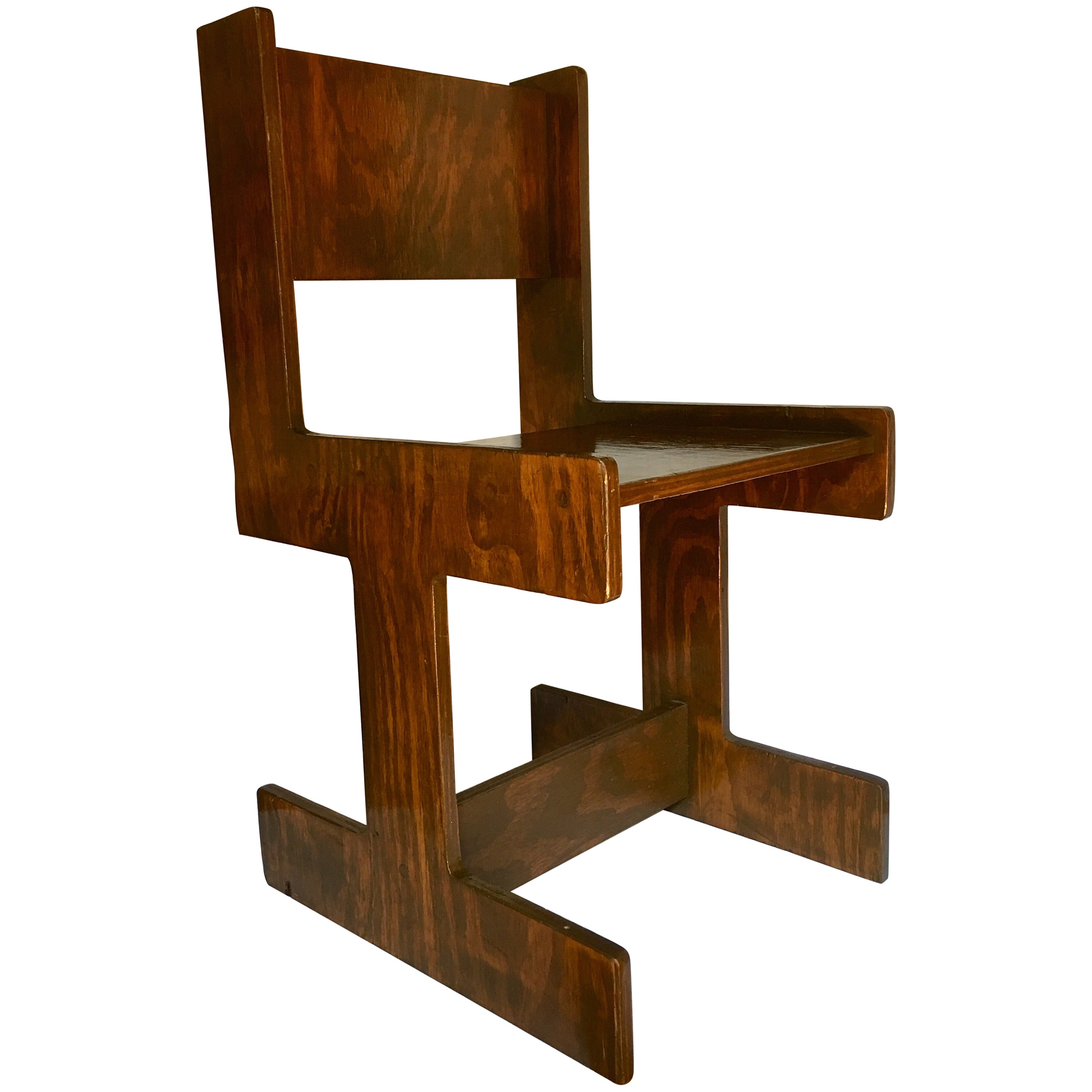 Mid Century Modern Accent Chair Mid Century Modern Studio Crafted Cubist Wood Accent Chair