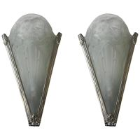 Pair of Floral French Art Deco Sconces For Sale at 1stdibs
