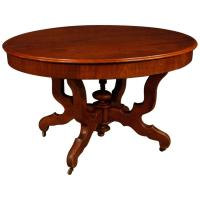 Extendable Dutch Dining Table in Carved Mahogany Wood from ...