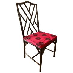 Bamboo Dining Chair Desk Good For Back Chinese Chippendale Rosewood Faux Sale At