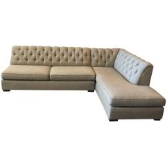 Gold Sectional Sofa How To Fix Seat Cushions Mitchell Tufted Two Piece For Sale At 1stdibs