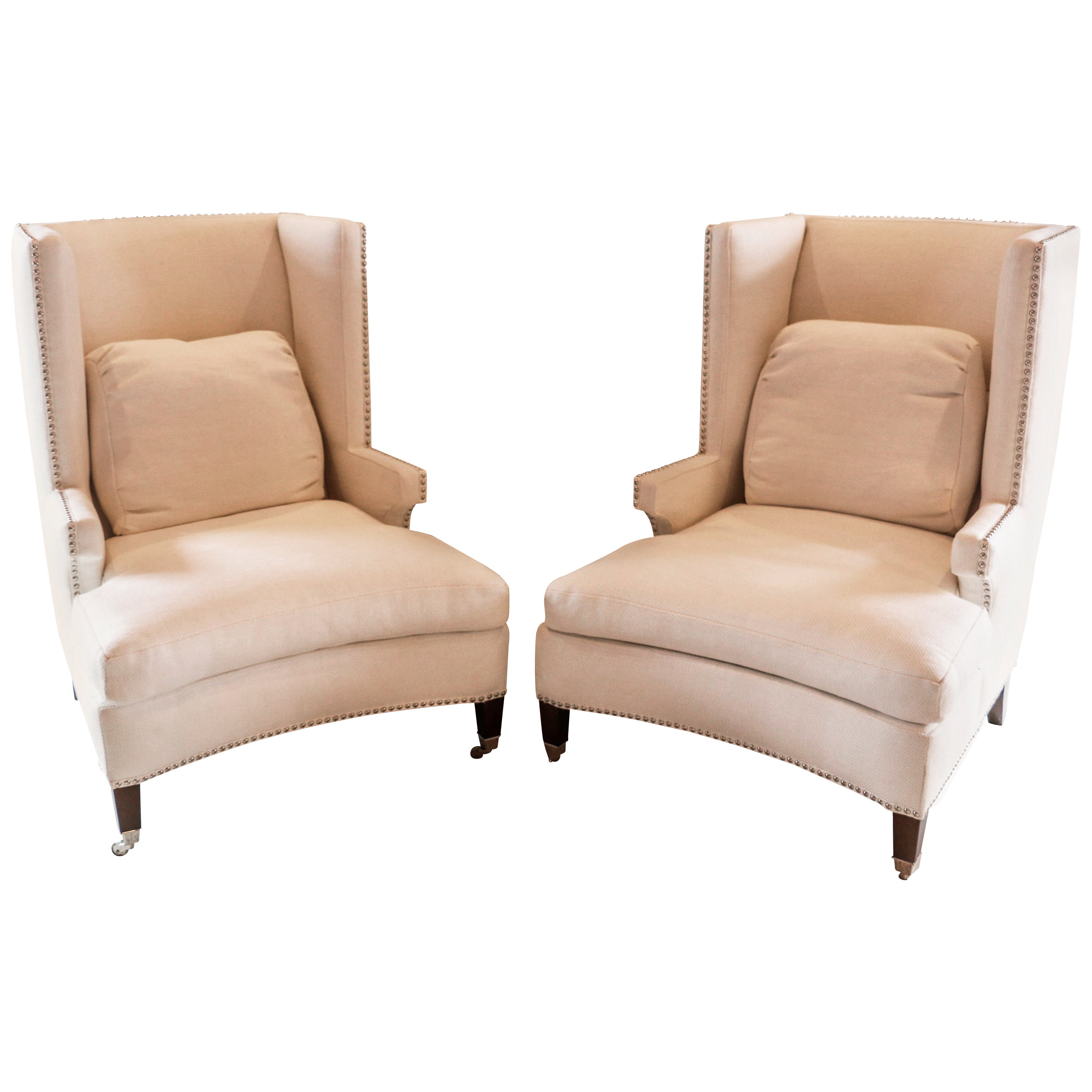 Modern Wing Chair Pair Of Fine Quality Custom Modern Wing Chair