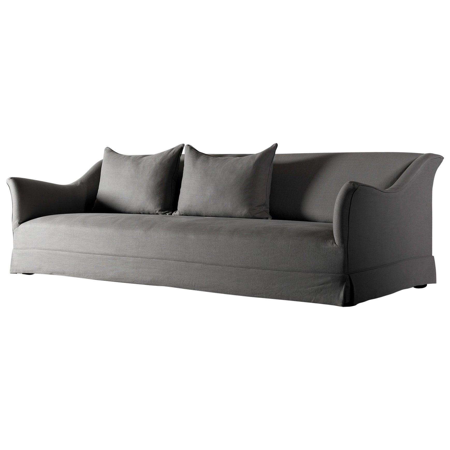 belgian linen sofa repair in dallas tx bespoke handmade for sale at 1stdibs