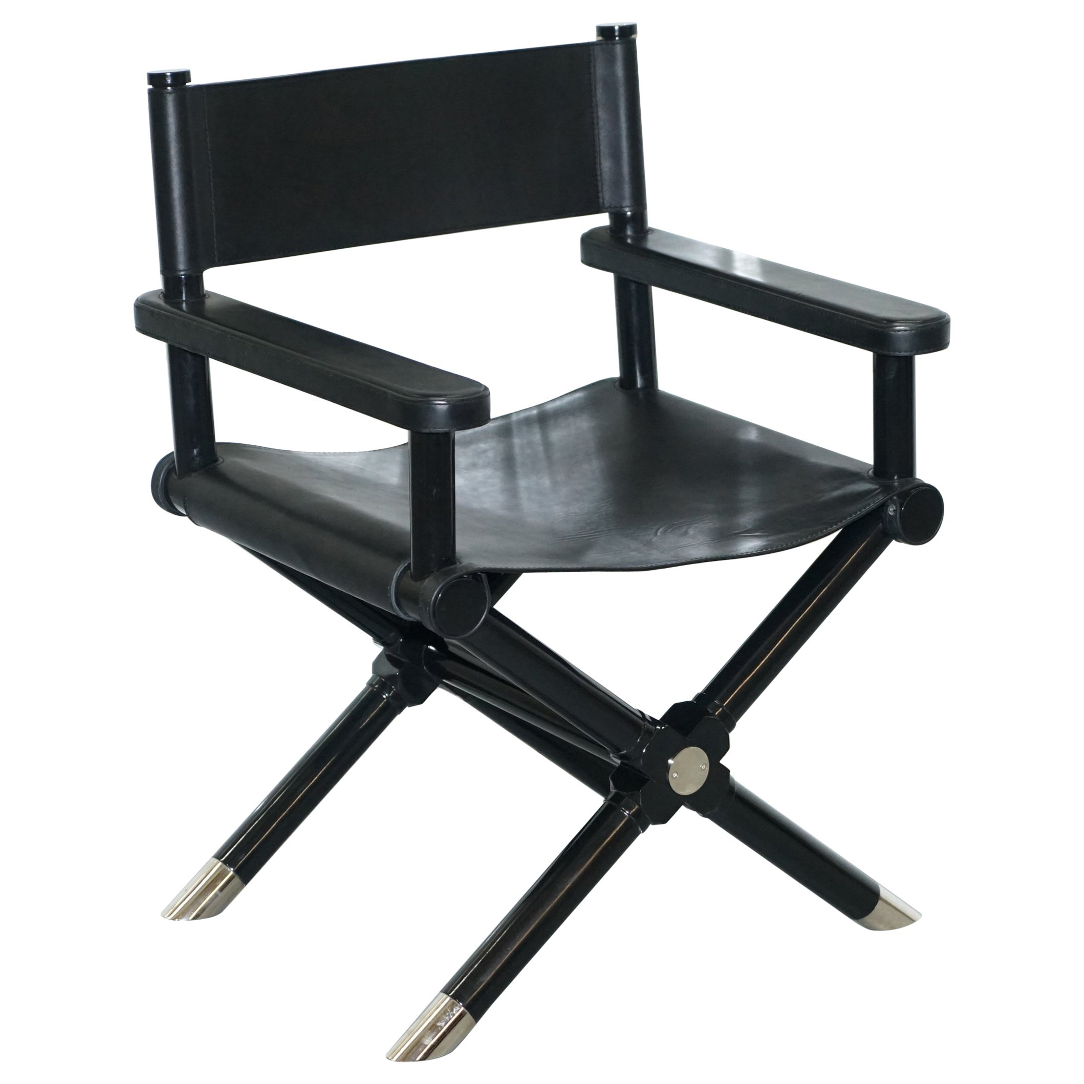 Black Directors Chair Ralph Lauren Holbrook Director S Armchair Black Leather Office Desk