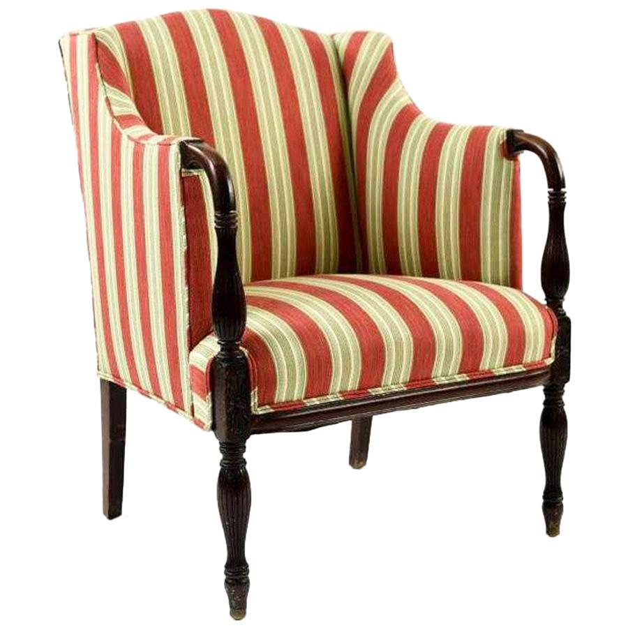 vintage arm chair accessories to improve posture sheraton style upholstered armchair for sale at 1stdibs