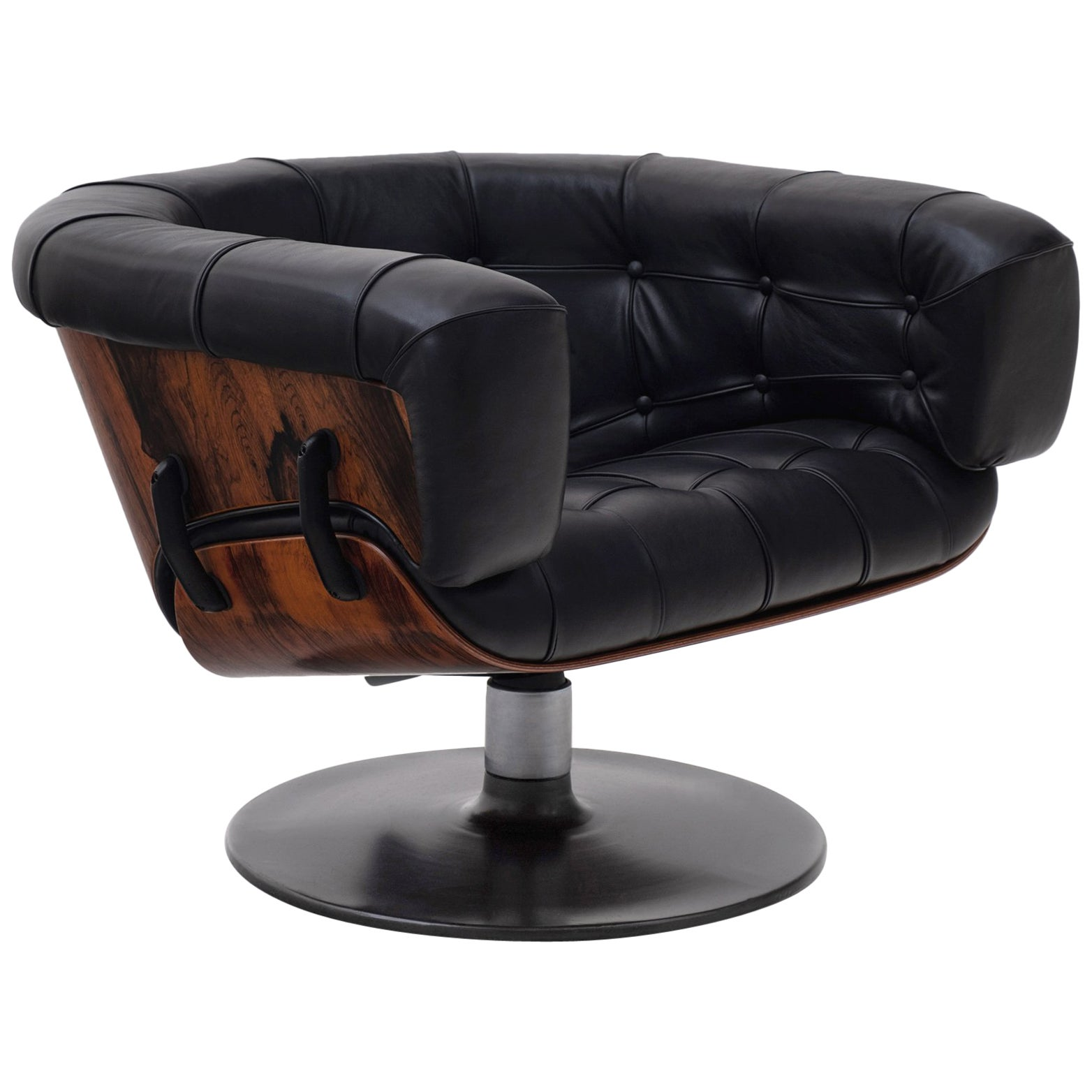 Black Leather Lounge Chair Mid Century Modern Rosewood And Black Leather Lounge Chair By Martin Grierson