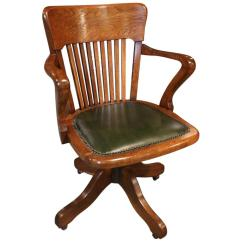 Antique Mahogany Office Chair Swivel Desk At 1stdibs 19th Century Oak