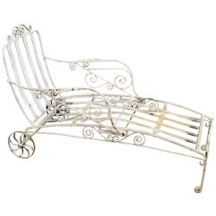 Iron Chaise Lounge Chairs Rent Chair Covers Indianapolis Antique Saltertini Fancy Wrought Art Nouveau Reclining For Sale