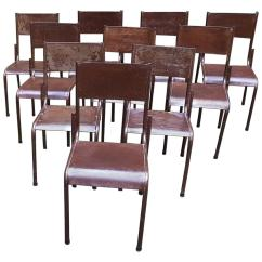Antique Metal Chairs For Sale Counter Height Dining Room Early 20th Century Italian Tavern Rusted Brown 1930