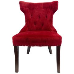 Red Tufted Dining Chair Stylist Chairs Wholesale Custom Upholstered Nailhead For Sale At 1stdibs