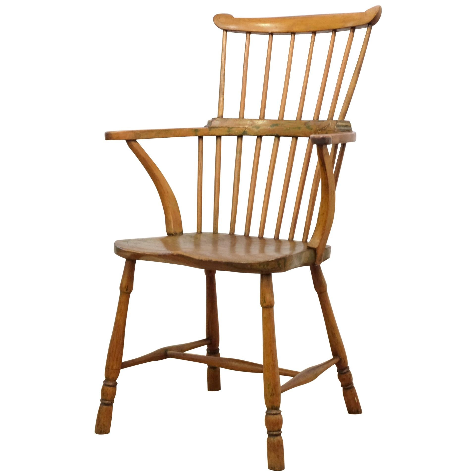 antique windsor chairs industrial style and vintage 157 for sale at 1stdibs 18th century english elm beech provincial comb back chair