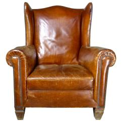 Leather Wingback Chairs Canada Ivory Accent Chair Antique For Sale In 1stdibs 1920s Italian Armchair