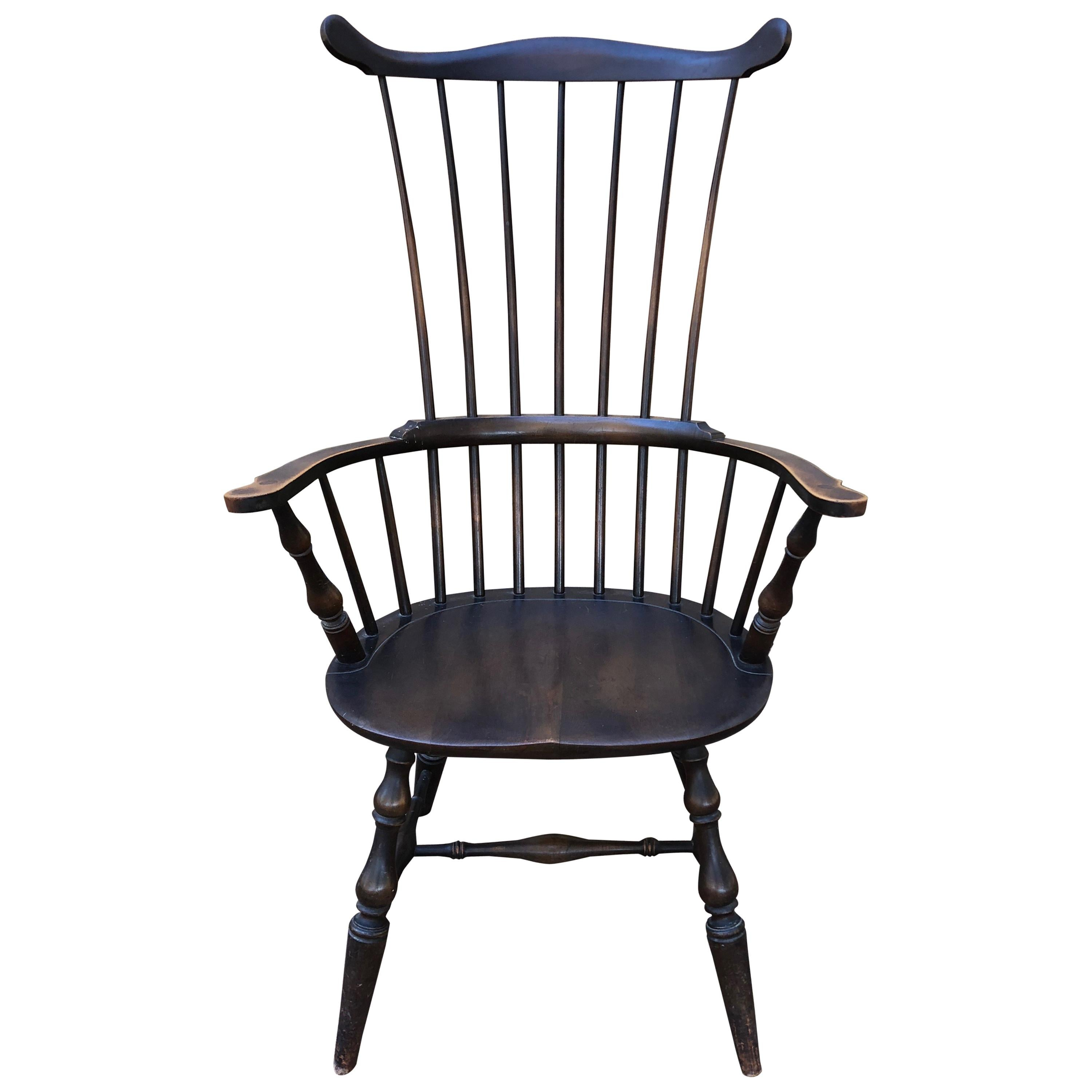 windsor chair with arms pink rolling antique and vintage chairs 157 for sale at 1stdibs