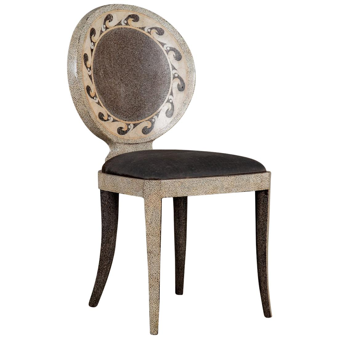 Eggshell Chair Eggshell Inlaid And Lacquered Side Chair For Sale At 1stdibs