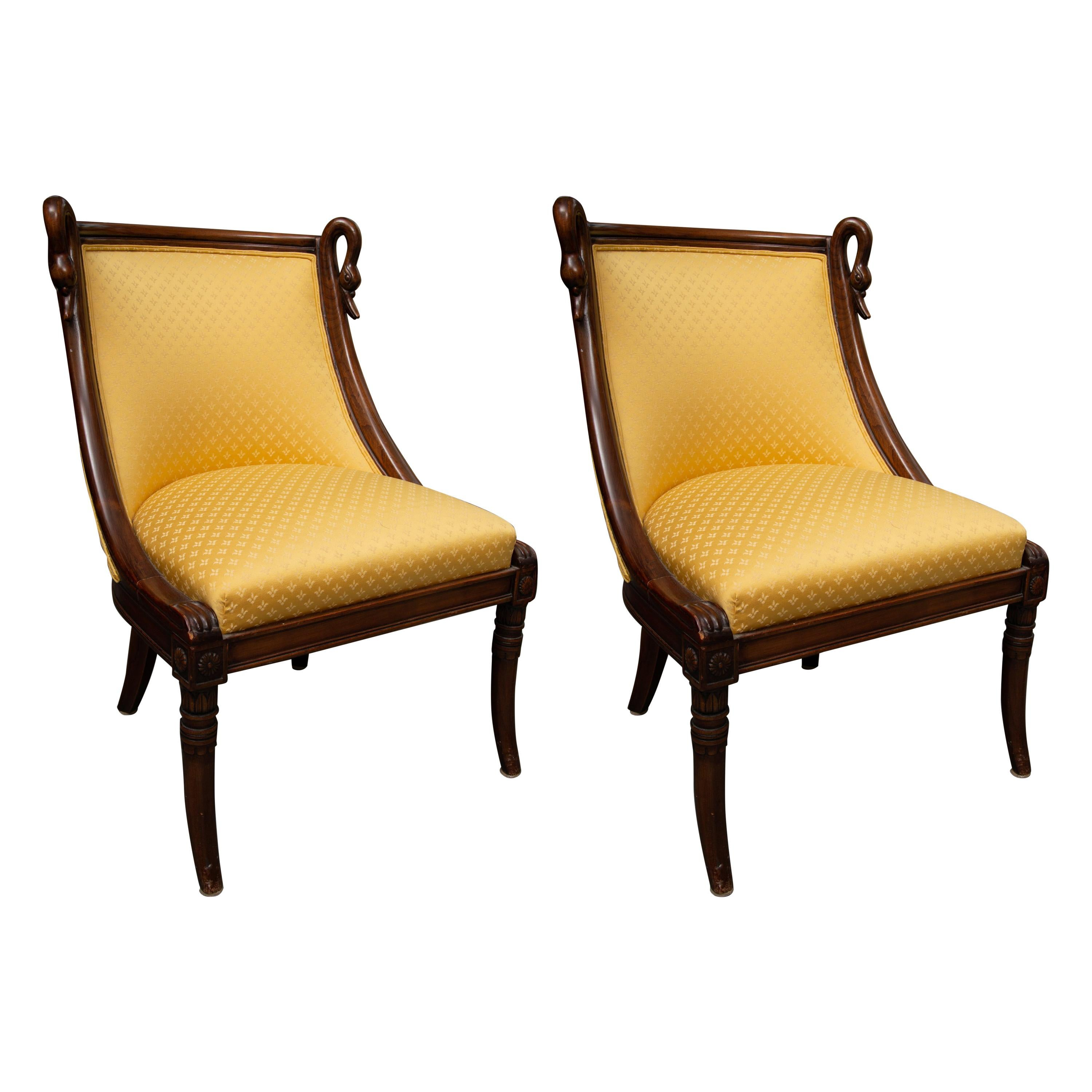 childrens upholstered chairs chair cover hire letchworth 19th century pair of children s directoire style for sale